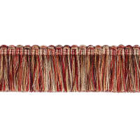 "Fabricut 1.5"" Escargot Brush Fringe Vineyard"