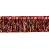"Fabricut 1.5"" Escargot Brush Fringe Port"