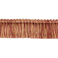 "Fabricut 1.5"" Escargot Brush Fringe Autumn"