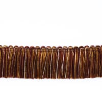 "Fabricut 1.5"" Escargot Brush Fringe Sangria"