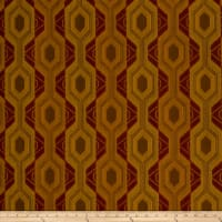 Fabricut Outlet Luxor Jacquard Earth Red