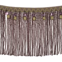 "Fabricut 9"" Mountain Resort Bullion Fringe Lavender Twist"