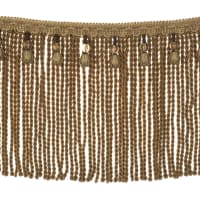 "Fabricut 9"" Mountain Resort Bullion Fringe Amber"