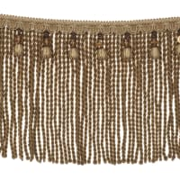 "Fabricut 9"" Mountain Resort Bullion Fringe Nutria"