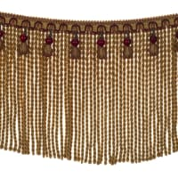 "Fabricut 9"" Mountain Resort Bullion Fringe Sangria"