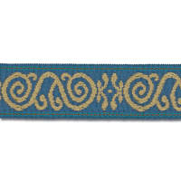 "Mount Vernon 2"" Ornament Trim Cobalt"