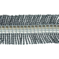 "Fabricut 2.25"" Shinzan Bullion Fringe Charcoal"