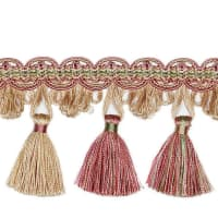 "Fabricut 3.5"" Teegan Tassel Fringe Strawberry"