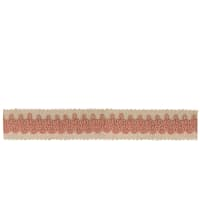 "French General 1"" Vanesque Trim Soft Rose"
