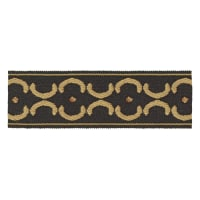 "Jaclyn Smith 1.75"" 01872 Trim Black/Gold"