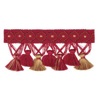 "Jaclyn Smith 2.75"" 01874 Tassel Fringe Red"