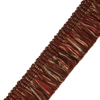 "Jaclyn Smith 1.5"" 02925 Brush Fringe Scarlet"