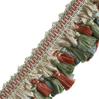"Jaclyn Smith 3"" 03944 Tassel Fringe Poppy Field"