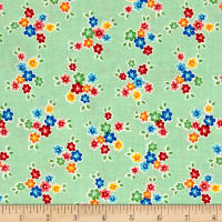 Riley Blake Arbor Blossom Bouquet Green