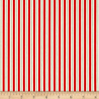 Riley Blake Kewpie Christmas Stripes Red