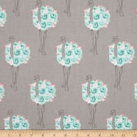 Riley Blake Curiosities Ostrich Gray