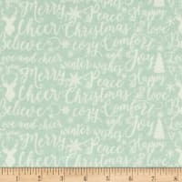 Riley Blake Comfort and Joy Words Light Green