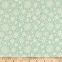 Riley Blake Comfort and Joy Snowflakes Light Green