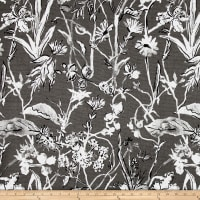 Lacefield Garden Party Linen Blend Basketweave Ink Cambric