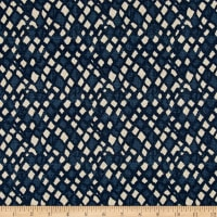 Lacefield Designs Nova Linen Blend Basketweave Indigo Basketweave