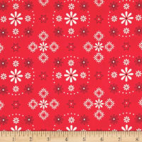 "Riley Blake Bee Backings and Borders 108"" Quilt Back Bandana Red"