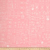 "Backings Pattern Pink 107/108"" Wide"