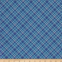 "Backings Plaid Blue 107/108"" Wide"