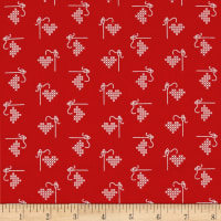 Riley Blake Bee Basics Heart Red