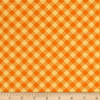 Riley Blake Bee Basics Gingham Orange