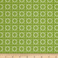 Riley Blake Bee Basics Circle Green