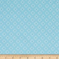 Riley Blake Bee Basics Stitched Flower Aqua