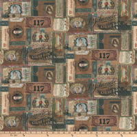 Tim Holtz Dapper Cigar Box Labels Multi