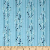 Riley Blake Daisy Days Stripe Blue