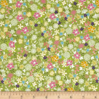 Riley Blake Daisy Days Secret Garden Green