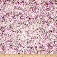 Indian Batik Dots Purple/Pink