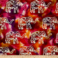 Indian Batik Elephant Dark Multi