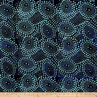 Indian Batik Abstrct Dots Blue