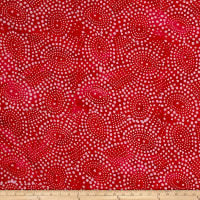 Indian Batik Abstrct Dots Red