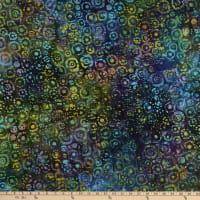 Indian Batik Circles Blue/Multi
