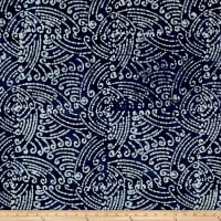 Indian Batik Swirls  Indigo