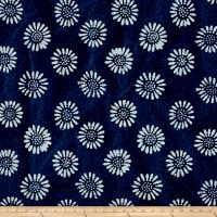 Indian Batik DaisyIndigo