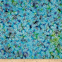 Indian Batik Floral Blue/Purple/Teal