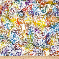 Indian Batik Paisley Multi