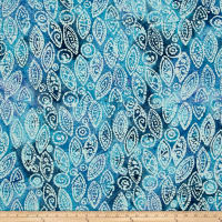 Indian Batik Abstract Blue