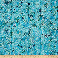 Indian Batik Large Ikat Teal