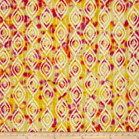Indian Batik Diamond Ikat Yellow/Orange