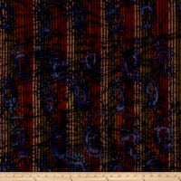 Indian Batik Woven Paisley Olive/Brown/Wine