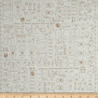 Riley Blake Bee Backgrounds Pattern Brown