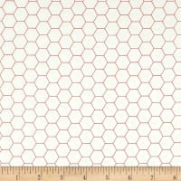 Riley Blake Bee Backgrounds Honeycomb Red