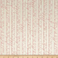 Riley Blake Bee Backgrounds Penmanship Red